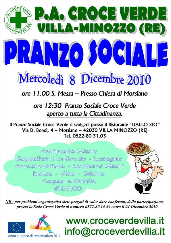 Pranzo sociale 2010