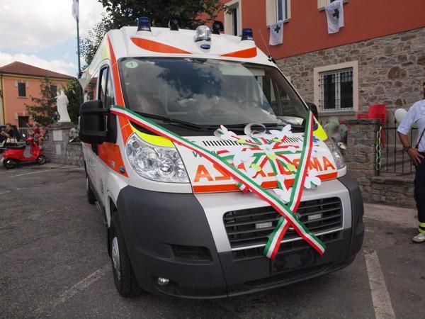 Inaugurazione ambulanza Fiat Ducato 4x4