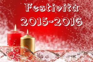 festività 2015-2016